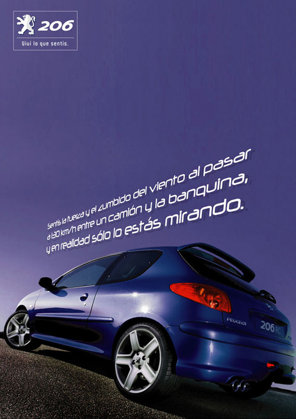 Press Ad for Peugeot 206 | Blue