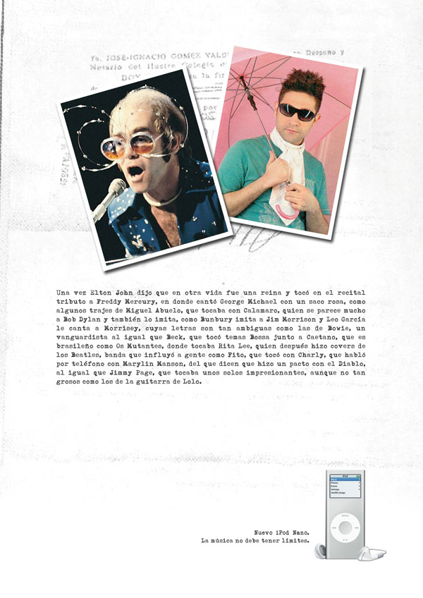 Press Ad for iPod | Elton John