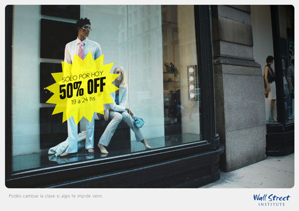 Press Ad for Wall Street Institute | Shopping